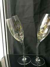 Gold Edition Champagne Flute Glasses Set of 2 Cups -Let's get Fizzy! Gift Boxed