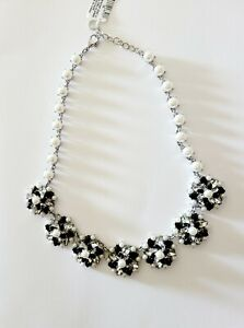 Charter Club Silver-Tone Crystal, Stone & White Pearl Cluster  Necklace $69