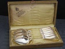6 Teelöffel Jugendstil 800/-Silber Wempe in orig.Box um 1900