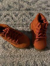Orange Baby Timberland Leather Boots Sz 4
