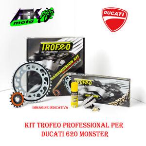 Kit Trasmissione Trofeo Pignone+Corona+Catena Ducati Monster 620 5V 2002 al 2003