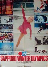 SAPPORO 1972 WINTER OLYMPICS Japanese B1 movie poster 29x41 MASAHIRO SHINODA