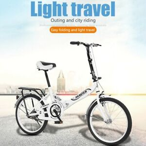 White Color 20 in. Altair City Folding Cycling Steel Frame Light Pink