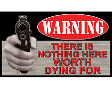 """RIVERS EDGE - """"NOT WORTH DYING FOR"""" DOOR MAT"""