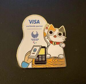 Tokyo 2020 Visa Paralympic cat sponsor pin