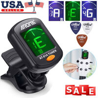 Digital Chromatic LCD Clip-On Electric Tuner For Bass, Guitar, Ukulele, Violin