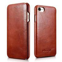iPhone 8/7/+PLUS Genuine Real Vintage Leather Flip Case Premium Luxury Cover New