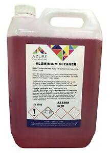 Aluminium Cleaner Degreases Removes Dirt Atmospheric Tarnish Oxidation - 5L