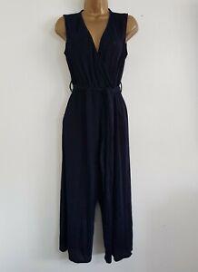 NEW Debenhams Plus Size 16-24 Black Blue Sparkle Jumpsuit Ocassion Evening Party