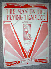 1933 THE MAN ON THE FLYING TRAPEZE Vintage Sheet Music arr by Harold Potter