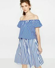 BNWOT ZARA STRIPES OFF SHOULDER TOP