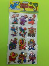 vintage 80's puffy circus sticker package  (free ship $20 min)