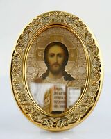 SACRED HEART OF JESUS PICTURE GOLD MOULDED DOMED FRAME SMALL OTHERS LISTED