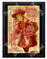 Historic Eden Valley Tea, c.1890-1910 Advertising Postcard
