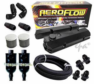 Aeroflow Holden Commodore VN VP VR VS VT V8 304 Alloy Rocker Covers Breather Kit