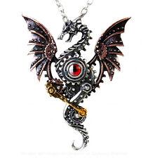 Alchemy Empire Gothic Blast Furnace Behemoth Dragon Pendant Necklace Steampunk