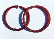 (1) SET 16G N.G.W. VERSION 2 100% NATURAL GUT TENNIS RACQUET STRING RED COLOR