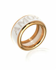 Pasquale Bruni Amore 18k Rose Gold And Ceramic Ring Sz 7.75 15161R-16