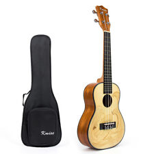 Kmise Spruce Concert Ukulele 23 inch Hawaii Guitar Mahogany Rosewood with Bag