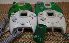 Lot of 4 Sega Dreamcast Video Game Controllers +VMU