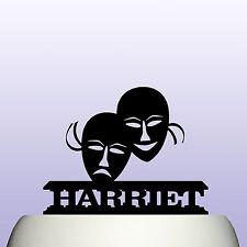 Máscaras De Teatro De Acrílico Personalizado rendimiento drama Cake Topper Decoración