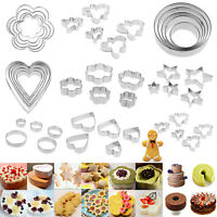 5pcs Stainless Steel Cookie Cutter Mold Cake Fondant Biscuit Pastry Baking Mould