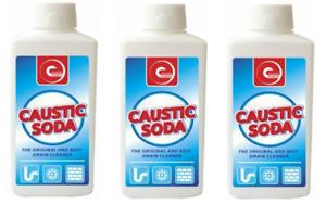 Caustic Soda - Lye Sodium Hydroxide - 1.1KG (Cleaner, Degreaser)(3 x 375g)