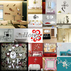 Modern 3D Art Stickers DIY Acrylic Mirror Wall Home Decal Room Decoration Vinyl