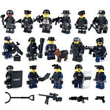 15 Figuren LEGO kompatibles SWAT Team mit Ausrüstung und Hund, Soldaten