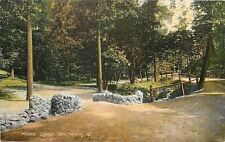 Reading Pennsylvania~Mineral Springs Park~Dirt Road~Stone Walls~Rail Fences~1907