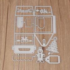 Christmas House Box Design Metal Cutting Dies Stencil DIY Scrapbooking Craft