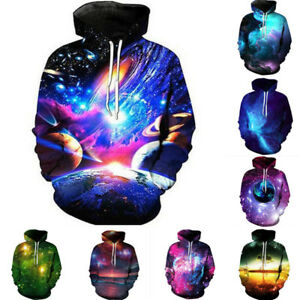 3D Print Mens Casual Hoodie Blouse Pullover Sweatshirt Jumper Tops Jacket Coat