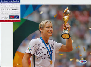 Abby Wambach USA Soccer World Cup Signed Autograph 8x10 Photo PSA/DNA COA C