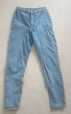 TOPSHOP MOTO Stretch Faded Blue Denim Jeans Size W28 L30 Trousers