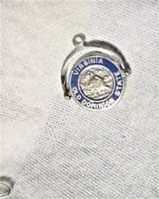 Estate 40s-60s ster SPINNER Travel CHARM: Blue VIRGINIA Old Dominion