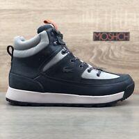 Lacoste Urban Breaker UK 9 Hi Top Boots Leather Grey Winter Water Resis RRP £120