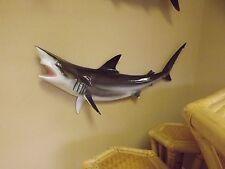 "47""  BROWN Blacktip Shark Half Mount Fish Replica"