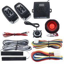 Universal PKE Passive Keyless Entry Car Alarm system W remote start Push Start