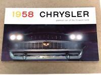1958 Chrysler New Yorker Windsor Saratoga Car Sales Brochure Catalog Convertible