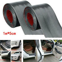 2x 5CM*1M Car Sticker Carbon Fiber Rubber Door Sill Protector Edge Guard TYD