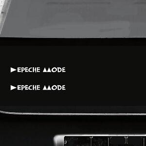 2 Aufkleber Tattoo 20cm weiß Delta Machine Auto Heck Schriftzug Depeche Mode