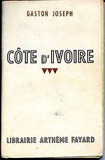 CÔTE D'IVOIRE - Gaston Joseph 1944