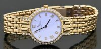 Baume & Mercier heavy 14K gold elegant .76CTW VS1/F diamond quartz ladies watch