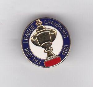 "Falkirk "" League Champions 1994 "" -  lapel badge brooch fitting"