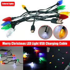 Merry Christmas light LED USB cable DCI Charger lighting cord iPhone 6, 7, 8,11