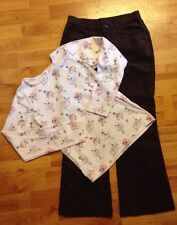 Kc Parker Hartstrings Gymboree Girls Sz. 10-12 Ballerina Top Brown Bootcut pants