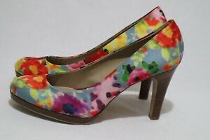 Bandolino Size 10 Womens Floral Print Mini Platform Heels - After #Locked#Down
