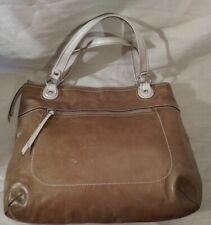 Coach Tan Ivory Leather Poppy Glam Shoulder Tote Bag 18998 Missing Hangtags