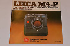 VINTAGE 1981 LEICA M4-P RANGEFINDER CAMERA COLOR BROCHURE! LENSES TOO! 24 PAGES!