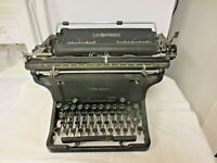 Vintage 1895-1923 Patent Underwood USA Black Manuel Typewriter-HEAVY